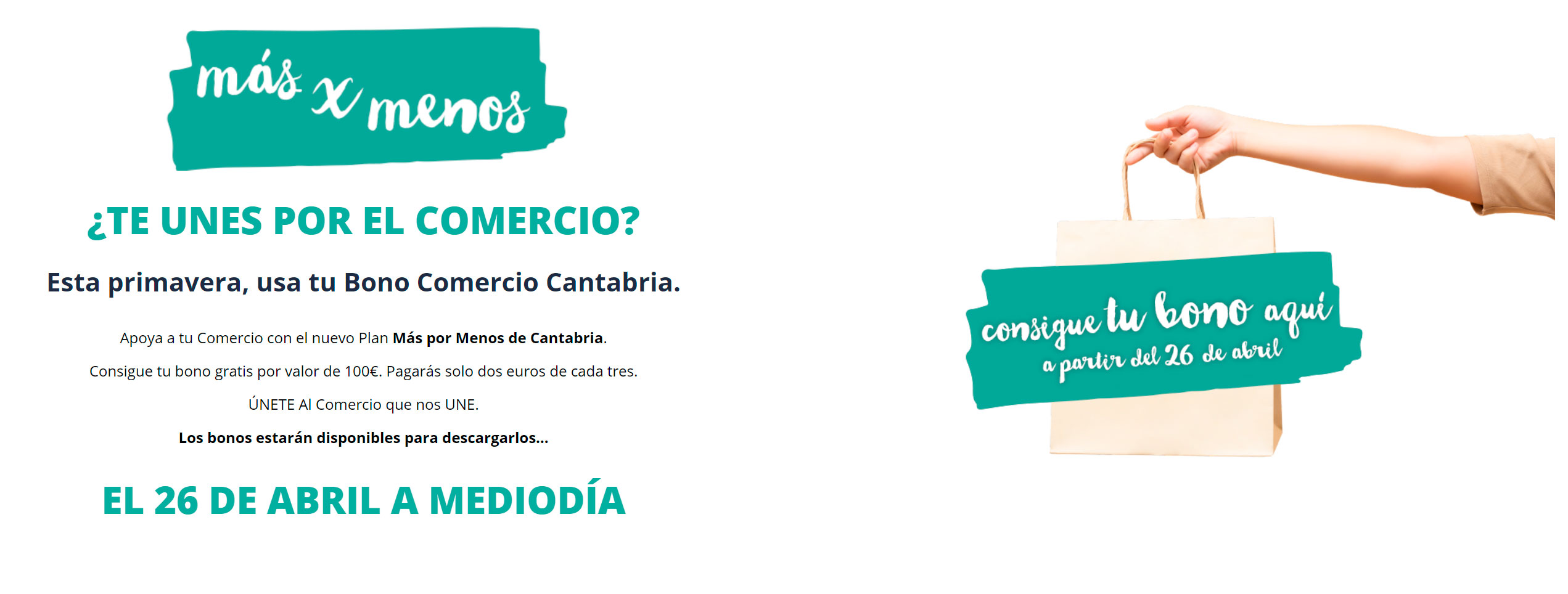 Cómo descargar tu bono Comercio Cantabria